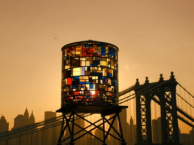 Tom Fruin uses light and glass to create startling beauty.