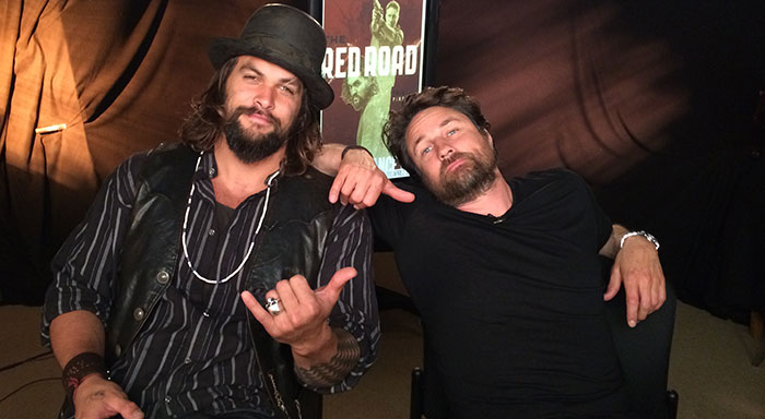 Jason Momoa and Martin Henderson of The Red Road