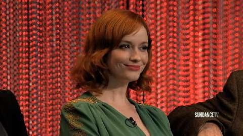 Christina Hendricks talks about how Joan Harris is finally finding her own career path on Mad Men.