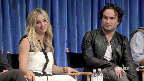 "Kaley Cuoco and Johnny Galecki talk about the first time Penny says ""I love you"" to Leonard on The Big Bang Theory."