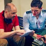 Jonas Nay (Martin Rauch/Moritz Stamm) and director Edward Berger