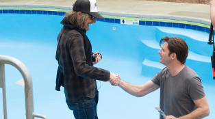 Ray McKinnon and Daniel Holden in Rectify Behind the Scenes 304