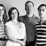 Deutschland 83 Yvonne Edel (Lisa Tomaschewsky), Ursula Edel (Anna von Berg), Wolfgang Edel (Ulrich Noethen) and Alex Edel (Ludwig Trepte)