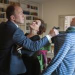 Wolfgang Edel (Ulrich Noethen), Ursula Edel (Anna von Berg) and Alex Edel (Ludwig Trepte) in Episode 4.