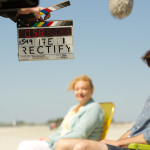 Janet Talbot and Daniel Holden behind the scenes of Rectify 306