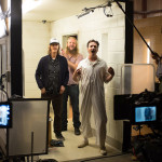 Ray McKinnon Scott Teems and Daniel Holden behind the scenes of Rectify 306