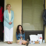 Ray McKinnon, Janet Talbot, Amantha Holden and Daniel Holden behind the scenes of Rectify 306