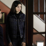 Camille (Yara Pilartz), Audrey (Armande Boulanger) and Claire (Anne Consigny) in THE RETURNED Episode 201.