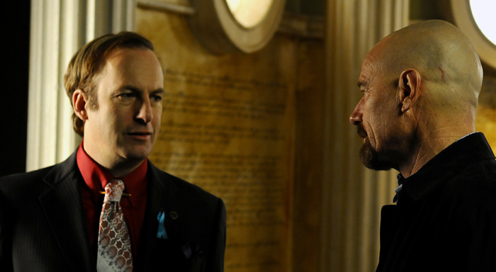 Saul Goodman and Walter White in Breaking Bad 700x384