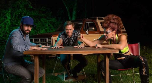 Jeremy Platt  (Executive Producer), Jimmi Simpson (Soldier) and Pollyanna McIntosh (Angel)