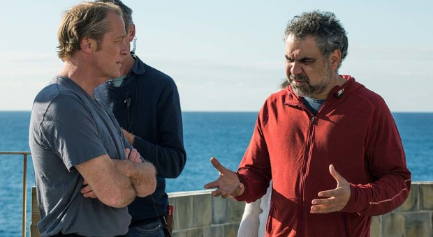 Iain Glen (Jarrod Slade) and Wayne Blair (Director)