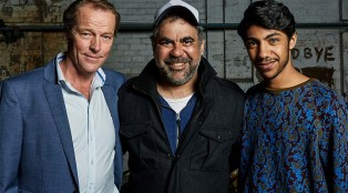 Iain Glen (Jarrod Slade), Wayne Blair (Director) and Hunter Page-Lochard (Koen)