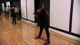 Towanda and Trina argue over which choreography to perform.