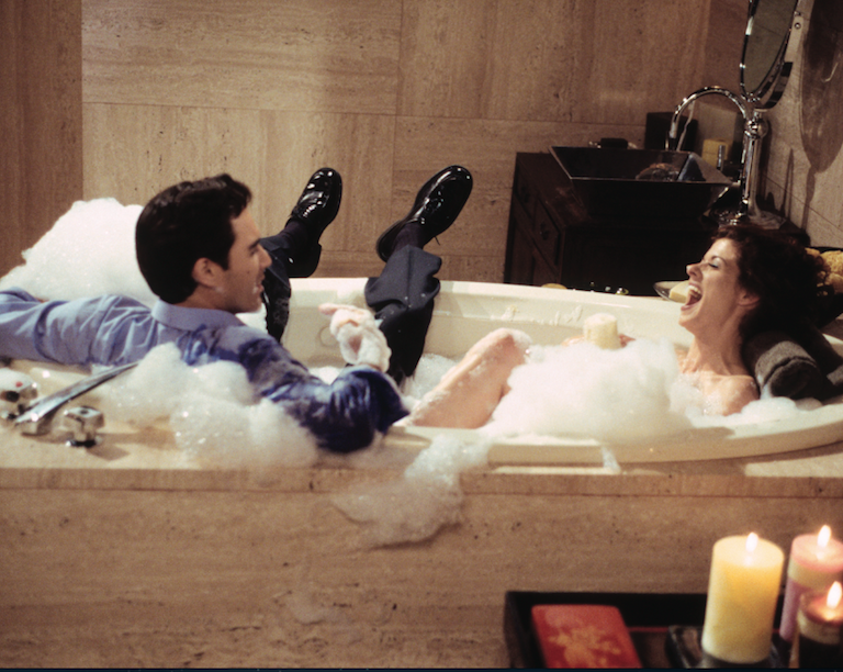 Will grace fifty shades of grace we tv for Bathroom romance photos