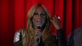 Tamar takes the stage at her album release party to express her gratitude.
