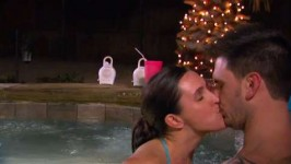 Casey and her hubby enjoy some well-deserved free time in the hot tub.
