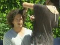 In this deleted scene, Shannen shapes her hubby-to-be's hair from a poodle look to a...less poodle look?