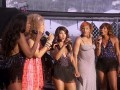 Toni, Tamar, Trina, Traci, and Towanda.  On Stage.