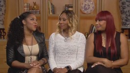 Towanda, Traci and Trina dish on all of the fun at Traci's video shoot.