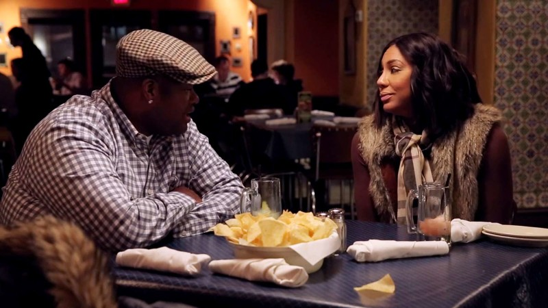 Tamar and Vince sit down for some Mexican food.