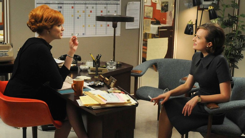 Talked About Scene Episode 413 Mad Men: Peggy and Joan on Don's Engagement