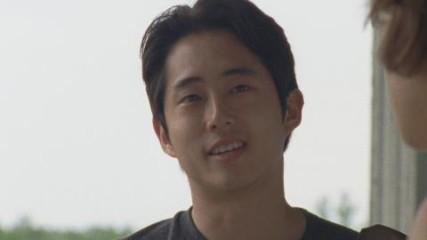 On Set With Steven Yeun: Being an Original Survivor: The Walking Dead