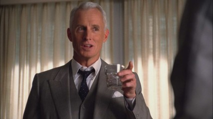 Then and Now: Roger Sterling: Mad Men