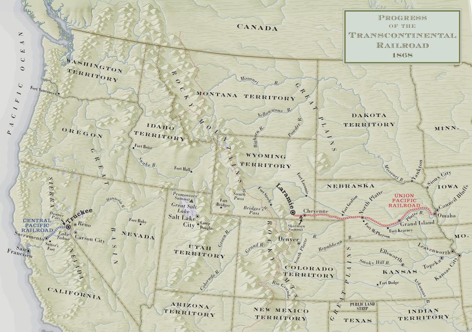 Hell On Wheels Hell On Wheels Season 5 Transcontinental Railroad - Us-transcontinental-railroad-map