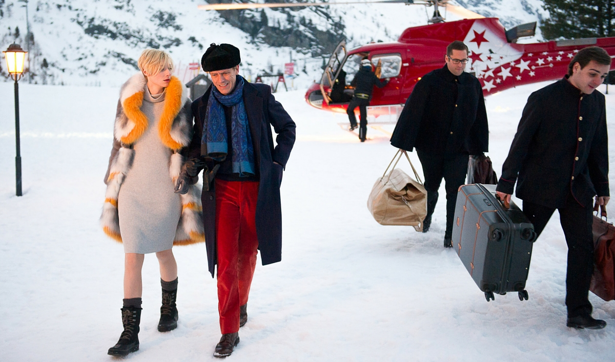 Exclusive Photo of Hugh Laurie and Elizabeth Debicki From the Upcoming Miniseries <em>The Night Manager</em>