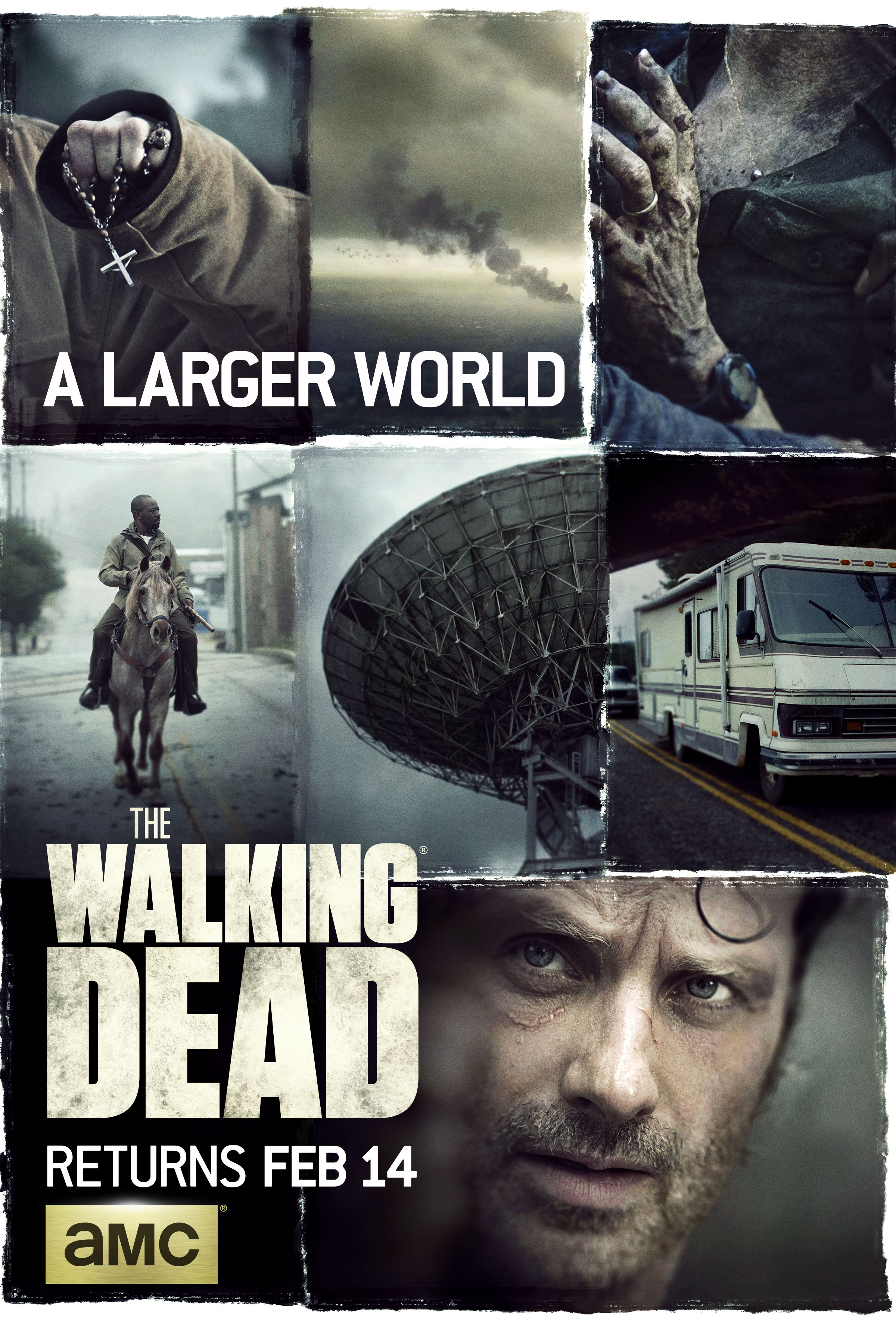 blogs the walking dead the walking dead season 6 mid season premiere poster revealed amc. Black Bedroom Furniture Sets. Home Design Ideas