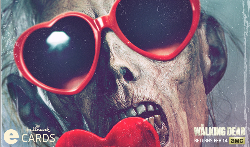 AMC and Hallmark Team Up to Offer Fans Free <em>The Walking Dead</em> Valentine's Day eCards