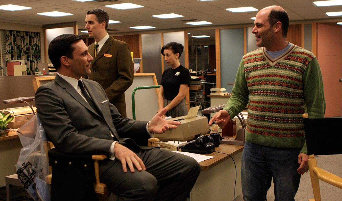 Jon Hamm in Movie Trailer; Matthew Weiner Runs for WGA West Board