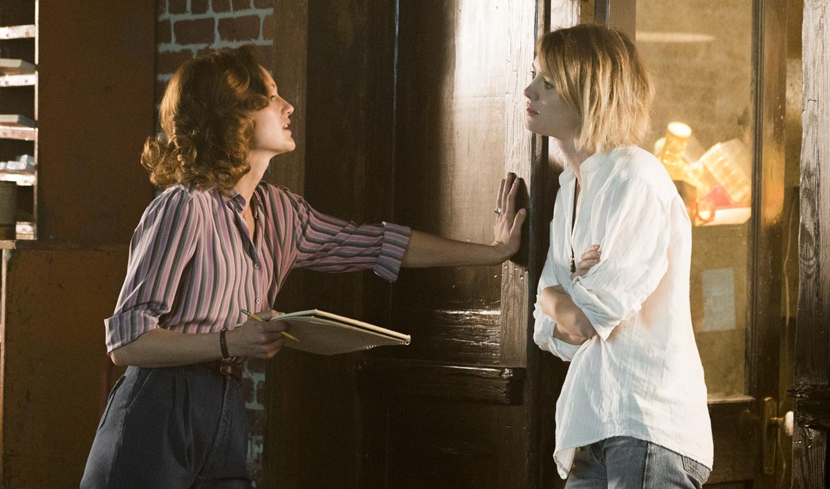 Mackenzie Davis as Cameron Howe, Kerry Bishe as Donna Clark - Halt and Catch Fire _ Season 3, Episode 1 - Photo Credit: Tina Rowden/AMC