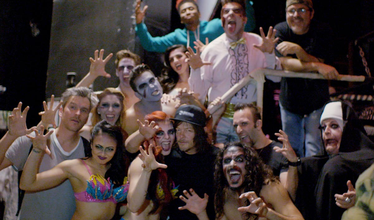 Norman Reedus Parties With a Bunch of Sexy Zombies