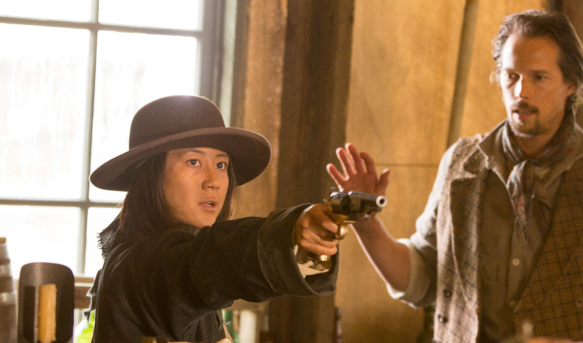 <em>Hell on Wheels</em> Q&A — Angela Zhou (Mei)