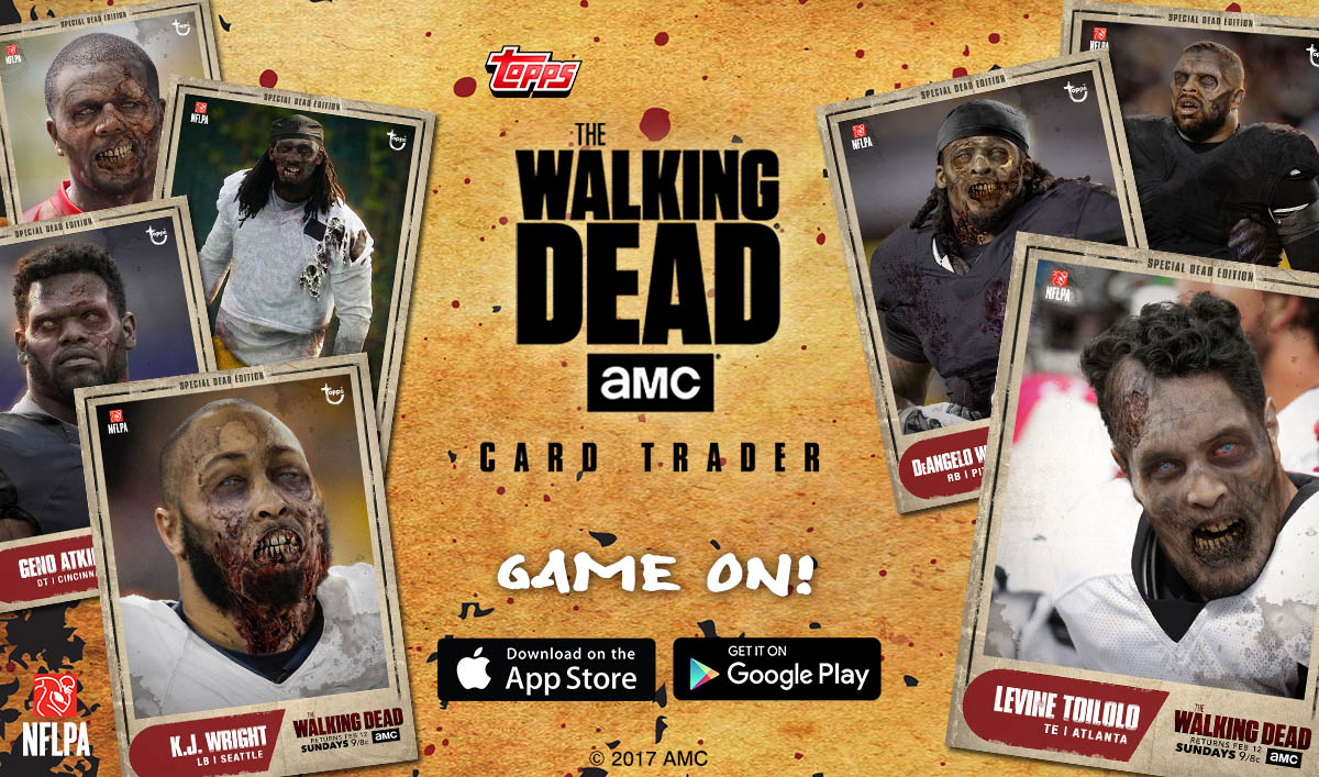 <em>The Walking Dead</em> Releases Special Edition Digital Topps Trading Cards Featuring NFL Players-Turned-Walkers