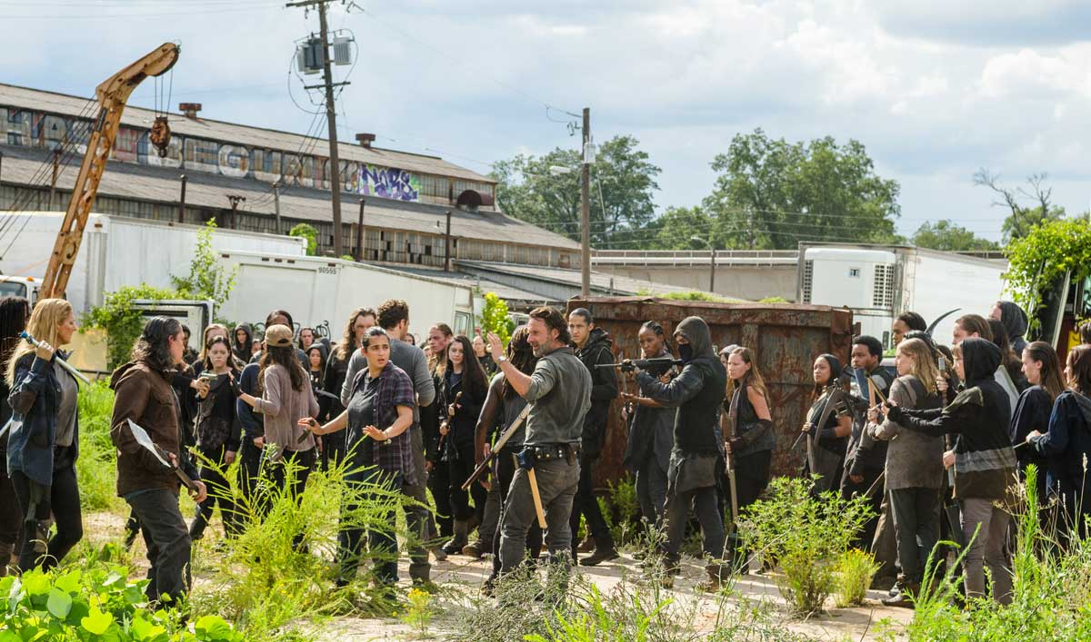 Talked About Scene From the Mid-Season Premiere — Rick Finds Himself Surrounded and Outnumbered