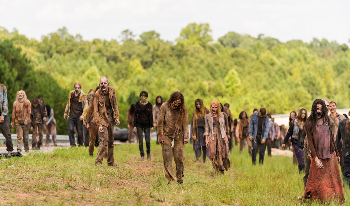 Making of <em>The Walking Dead</em> Mid-Season Premiere — See How Thousands of Walkers Were Sliced in Half on the Highway