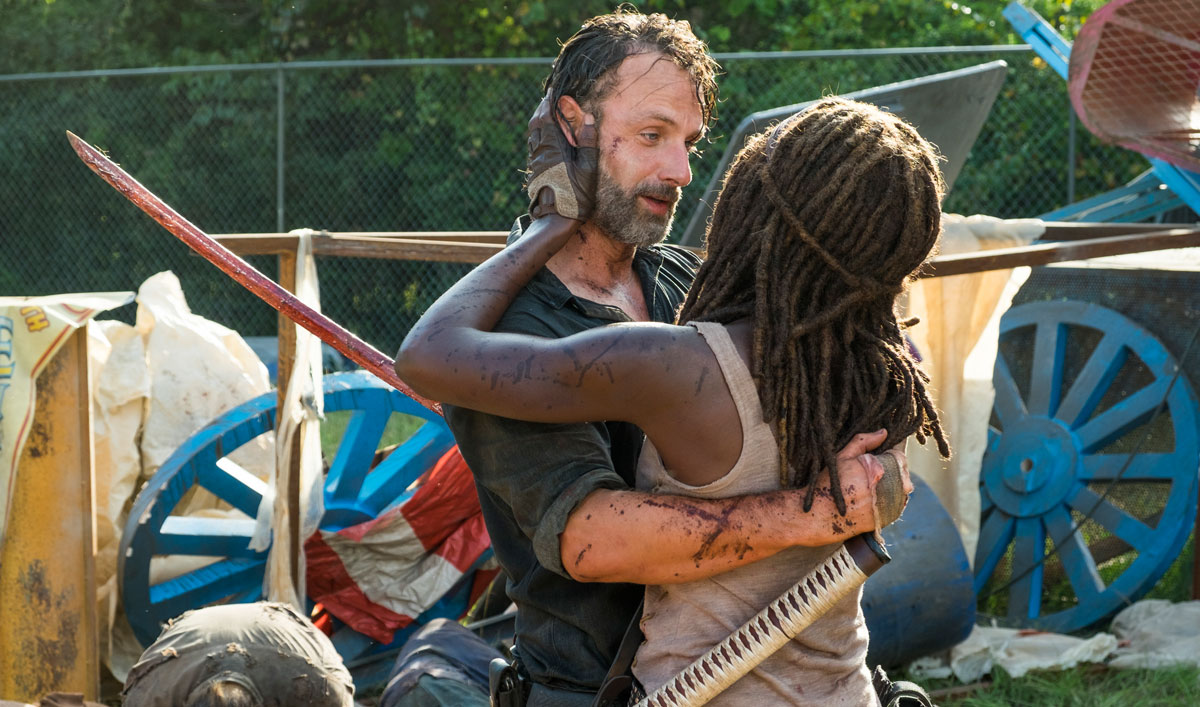 Rick and Michonne Get Closer on a Road Trip Only They Would Love — Watch <em>The Walking Dead</em> Season 7, Episode 12