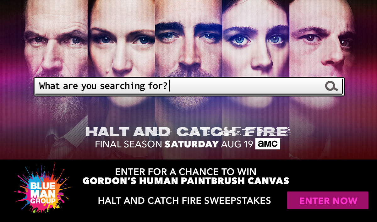 Win a <em>Halt and Catch Fire</em> Blue Man Group Prize Package