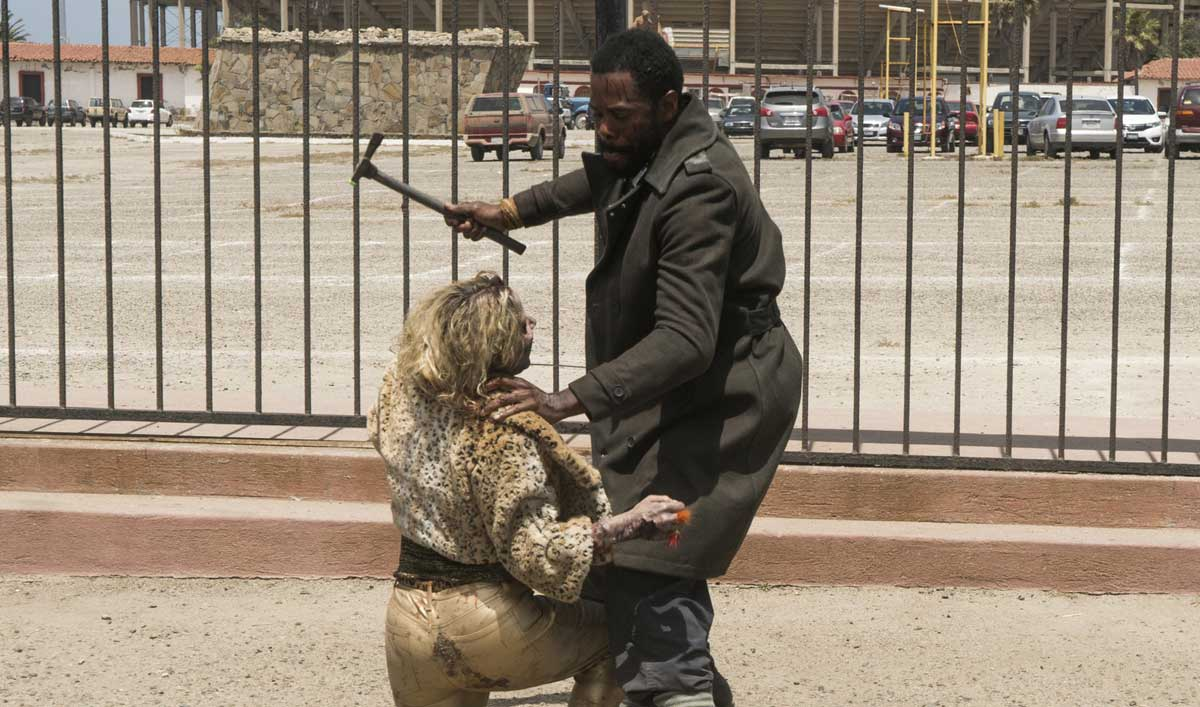Strand Fights for His Life in a Scene From <em>Fear the Walking Dead</em> Episode 10