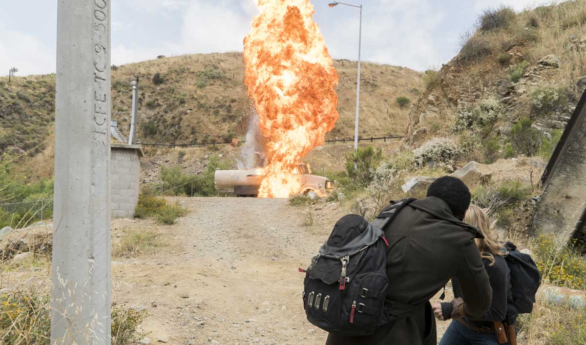 The Crew Had Only One Shot at the Water Tanker Stunt in <em>Fear the Walking Dead</em> Episode 11