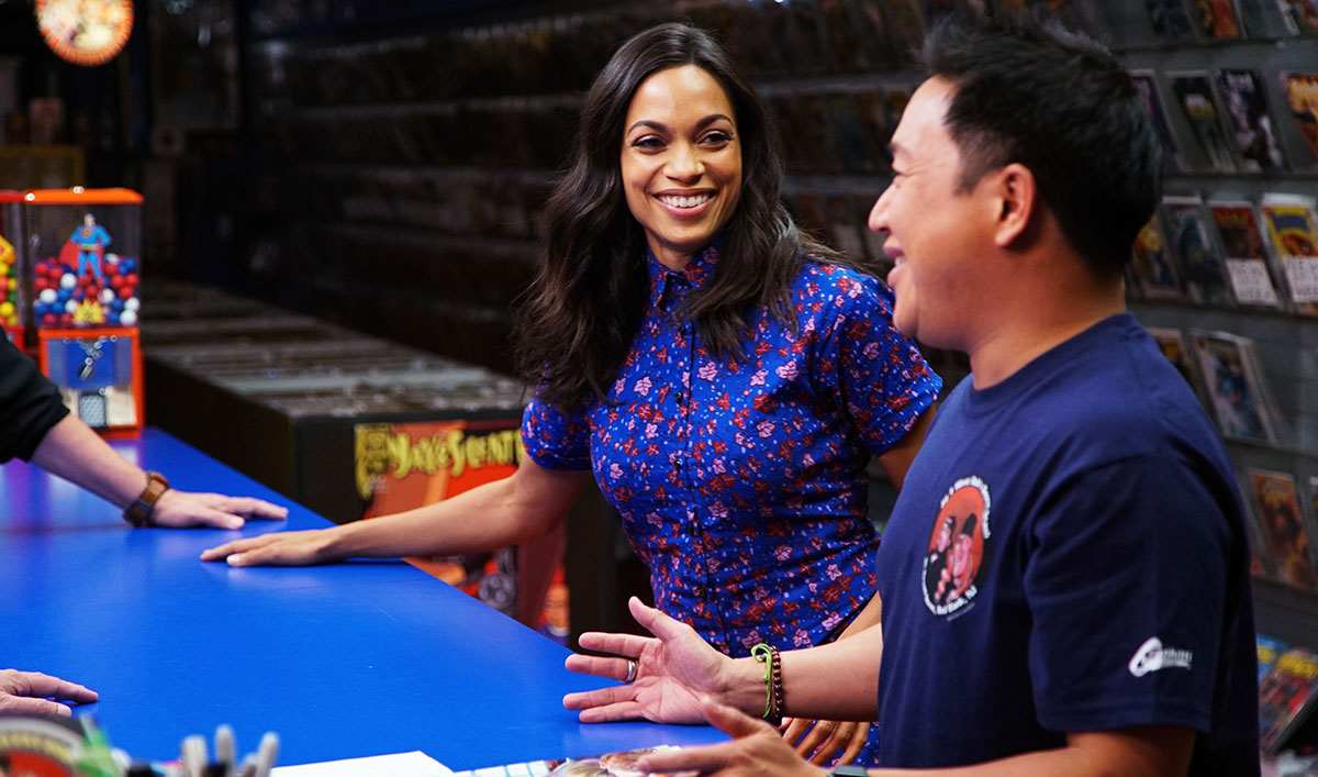 Rosario Dawson Stops By the Stash for an Ode to <em>Clerks</em>