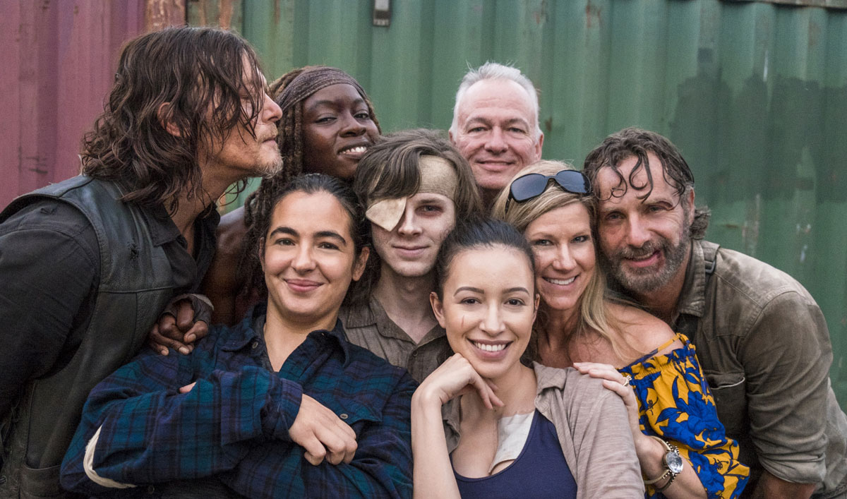 Cast and Creators Wrap Up Season 8 of <em>The Walking Dead</em>