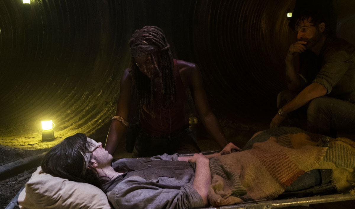 Rick and Michonne Say Their Goodbyes to Carl in a Scene From <em>The Walking Dead</em> Season 8 Mid-Season Premiere