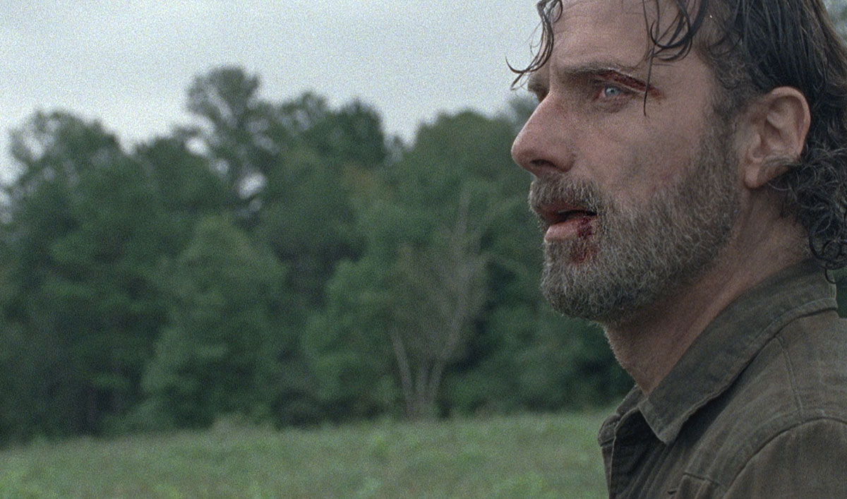 Negan Urges Rick to Back Down in a Tense Scene From <em>The Walking Dead</em> Episode 10