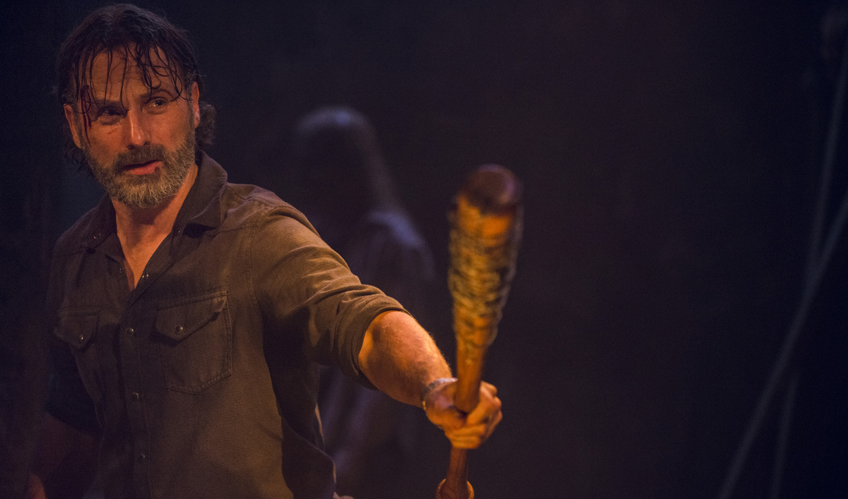 Rick and Negan Battle in a Talked About Scene From <em>The Walking Dead</em> Episode 12
