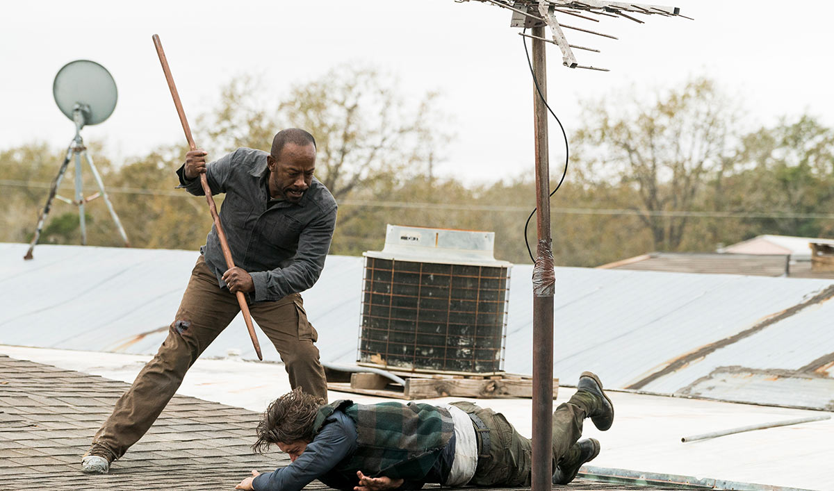 Go on Set of <em>Fear the Walking Dead</em> as Morgan Shows Off His <em>TWD</em> Fighting Skills in a New World