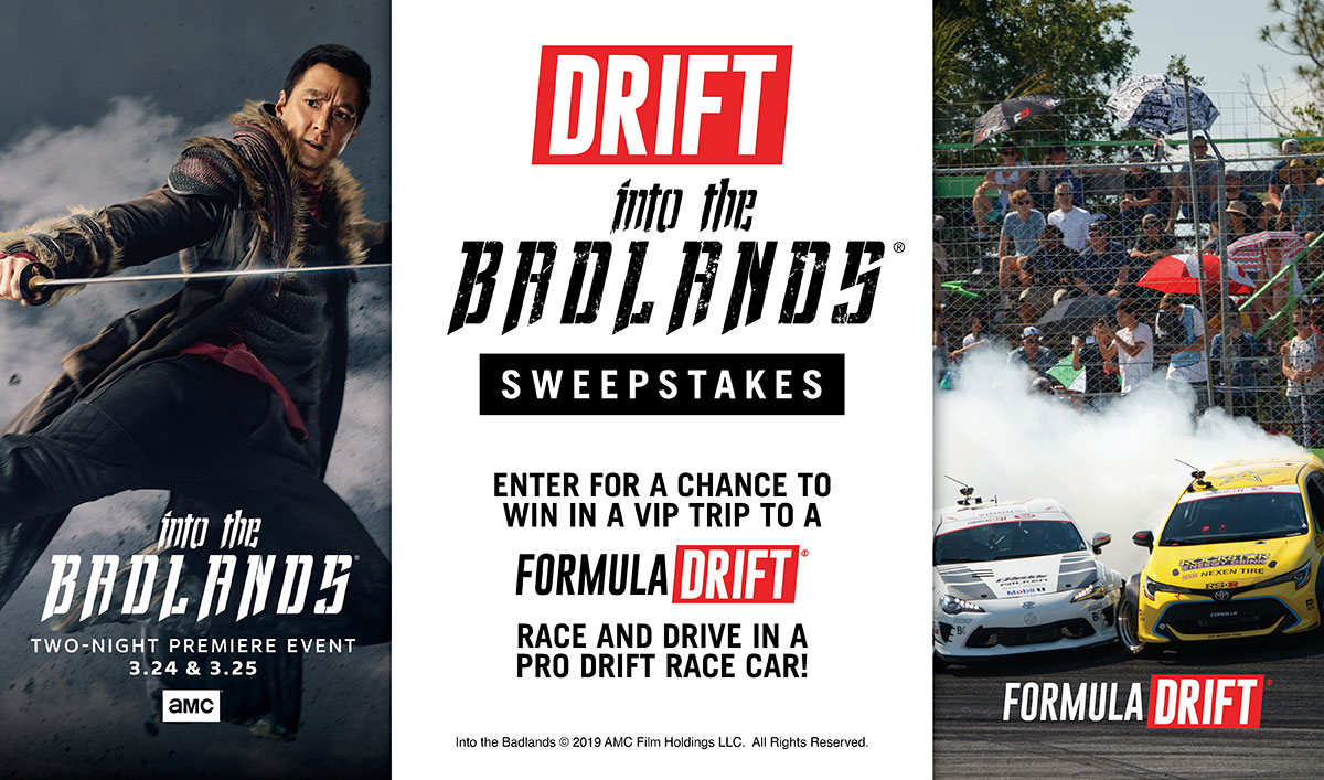 Get Close to the Action With the <em>Into the Badlands</em> Formula Drift Sweepstakes