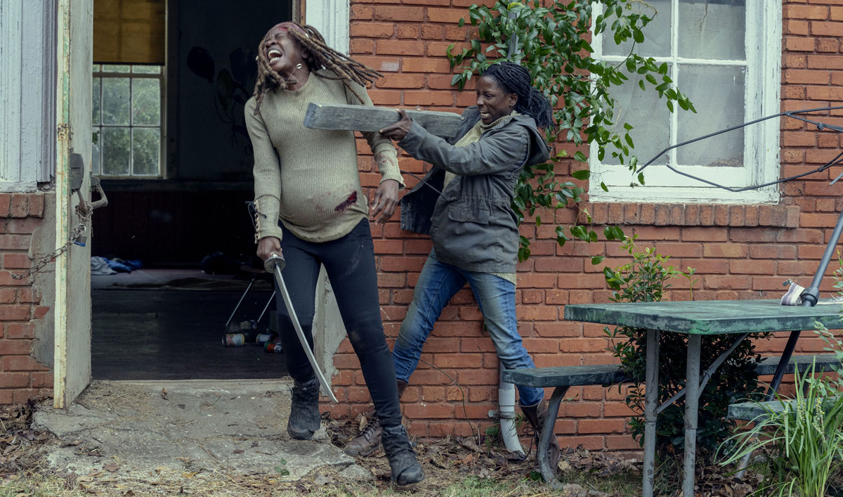 How Michonne Went Into Mama Bear Mode for Her Fight Scene in the Latest Episode of <em>The Walking Dead</em>
